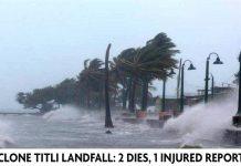 Cyclone Titli landfall