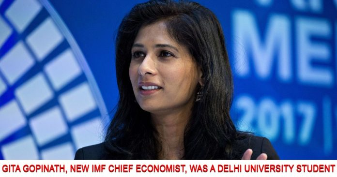 Gita Gopinath New IMF Chief Economist
