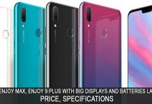 Huawei Enjoy 9 Plus and Enjoy Max Launched