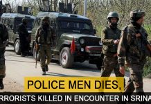 3 Terrorists Killed in an Encounter and a policeman died in Srinagar