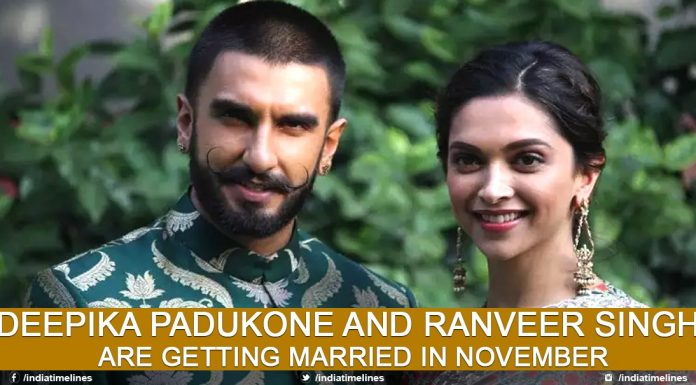 Deepika Padukone And Ranveer Singh Are Getting Married In November