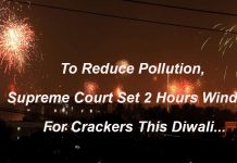 To Reduce Pollution Supreme Court set 2 Hours Window For Crackers