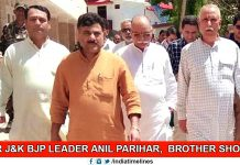 Senior J&K BJP Leader Anil Parihar and His Brother Shot Dead
