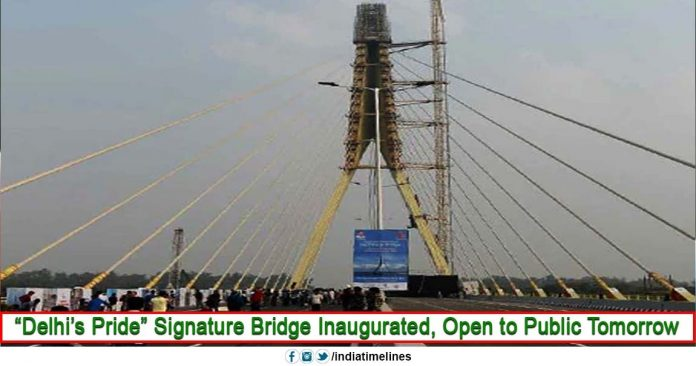 """Delhi's Pride"" Signature Bridge Inaugurated By AAP Party"