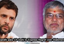 Rahul Gandhi Pulls up CP Joshi Over His Statement Against PM