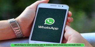 WhatsApp Status to Start Showing Ads