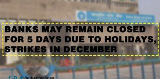 Banks may remain closed for 5 days due to holidays