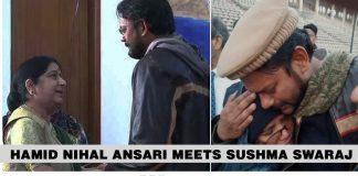 Hamid Nihal Ansari meets Sushma Swaraj