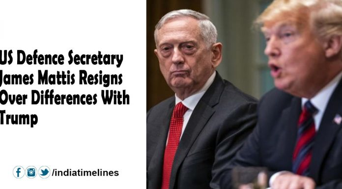 US Defence Secretary James Mattis resigned from the differences with Trump