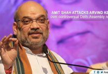 Amit Shah attacks Arvind Kejriwal over controversial
