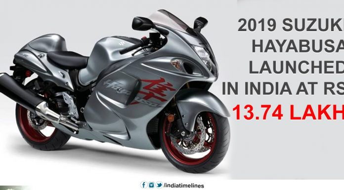 Suzuki Hayabusa launched in India in 2019 for Rs 13.74 lakhs