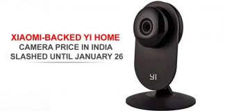 Price of Xiaomi-Backed Yi Home Camera decreased by January 26