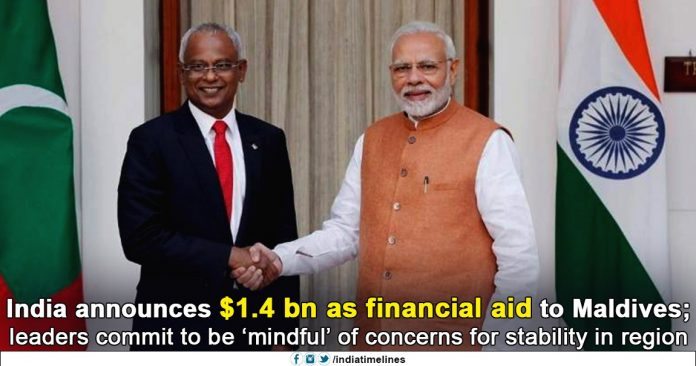 India Announces $1.4 Billion As Financial Aid To Maldives