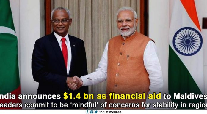 India Announces $1.4 Billion As Financial Aid To Maldives