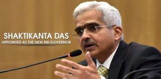 RBI appointed new Governor Shaktikanta Das