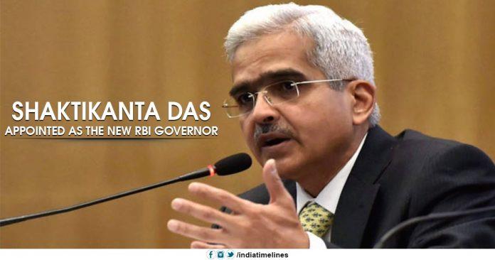 RBI appointed new Governor Shaktikanta Das