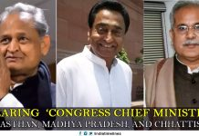 Swearing 'Congress chief ministers' in Rajasthan