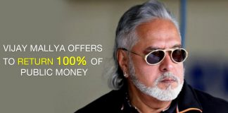 Vijay Mallya Offers to Return 100% of Public Money