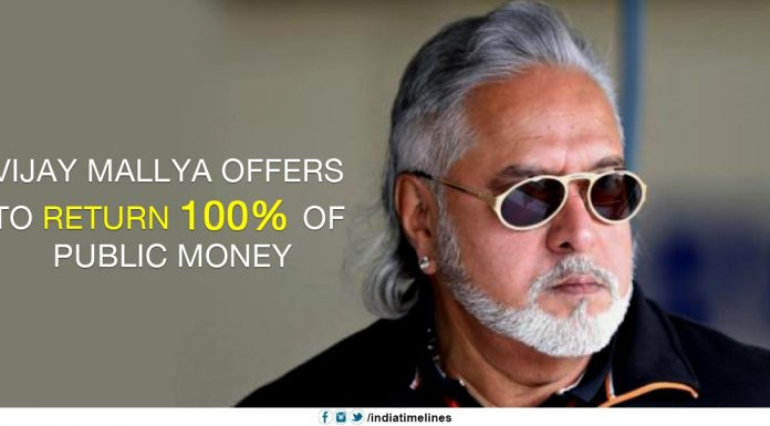Vijay Mallya Offers to Return 100% of Public Money