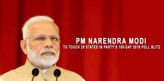 PM Narendra Modi to touch 20 states in the party's 100-day 2019 Pole