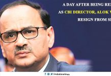 A day after being removed as CBI director