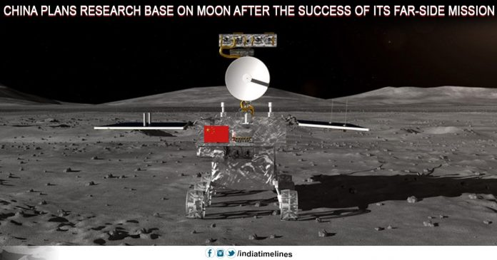 China plans research base on moon after the success of its far