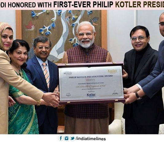 PMNarendra Modi honored with first-ever Philip Kotler Presidential award