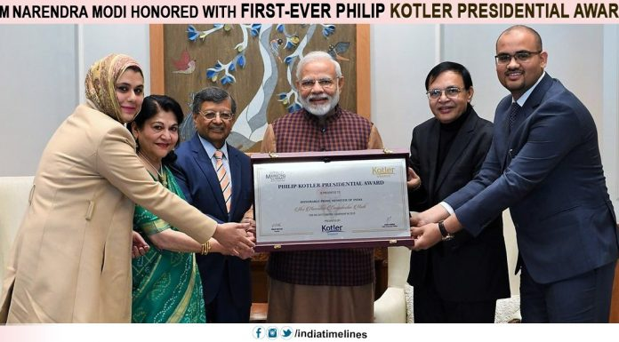 PM Narendra Modi honored with first-ever Philip Kotler Presidential award