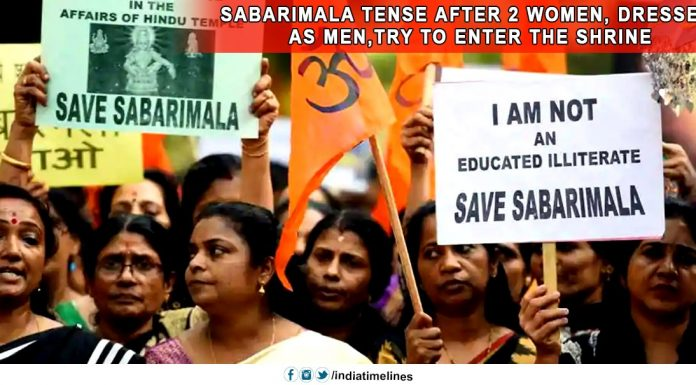 Sabarimala tense after 2 women- dressed as men