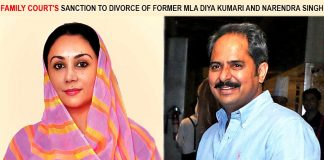 Family court's sanction to a divorce of Diya Kumari & Narendra Singh