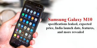 Samsung Galaxy M10 specifications leaked