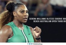 Serena Blitzes Eugenie Bouchard to reach the AUS Open 3rd Round