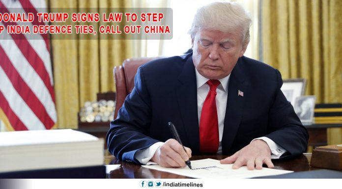 Donald Trump signed legislation to exclude China