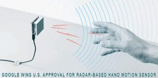 Google wins US approval for radar-based hand motion sensor