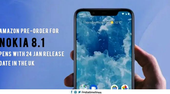 Amazon pre-order for Nokia 8.1 opens with 24 Jan release date in the UK
