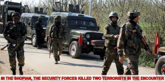 Two terrorists killed in encounter with security forces in Shopian