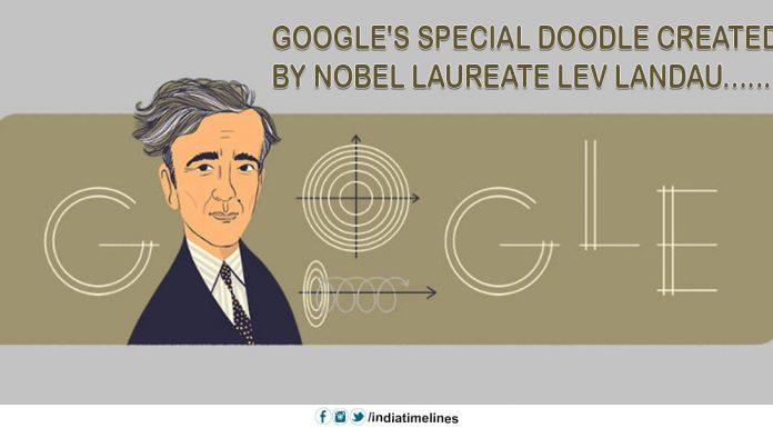 Google's special doodle created by Nobel laureate Lev Landau