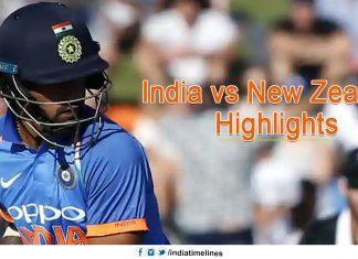 India vs New Zealand Highlights