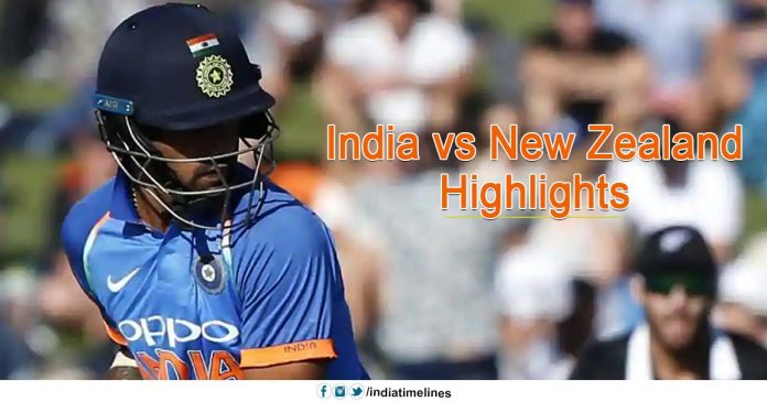 India vs New Zealand Highlights