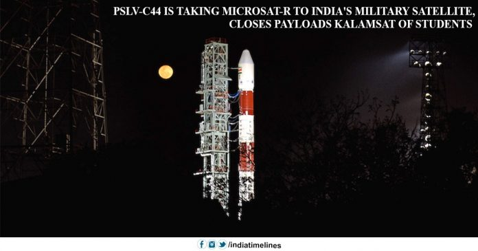 PSLV-C44 ready to launch Microsat-R and Kalamsat