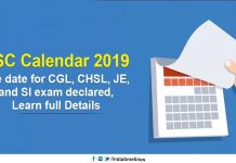 SSC Exam Calendar 2019-20 released, check CHSL, CGL Exam Date
