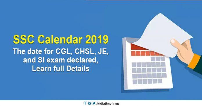SSC Exam Calendar 2019-20 released, check CHSL, CGL Exam Date