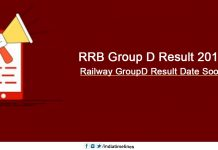 RRB Group D Result 2018-19
