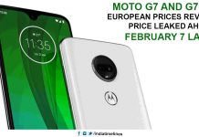 Moto G7 and G7 Plus European prices revealed, Price Leaked