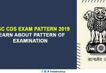 UPSC CDS Exam Pattern 2019