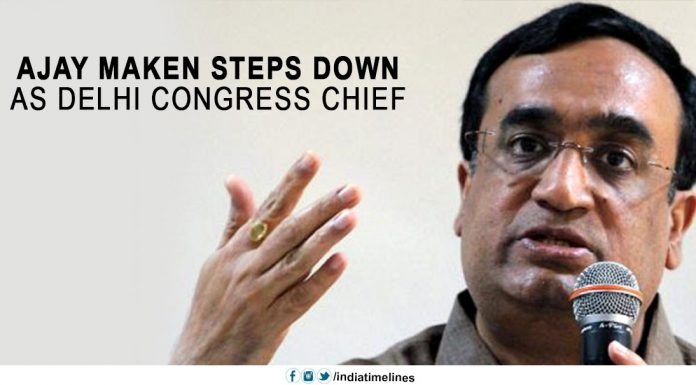 Ajay Maken steps down as Delhi Congress chief