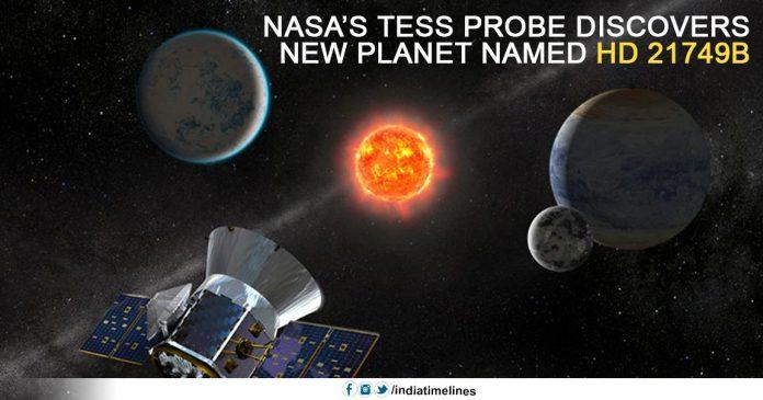 NASA's TESS Probe Discovers New Planet Named HD 21749B