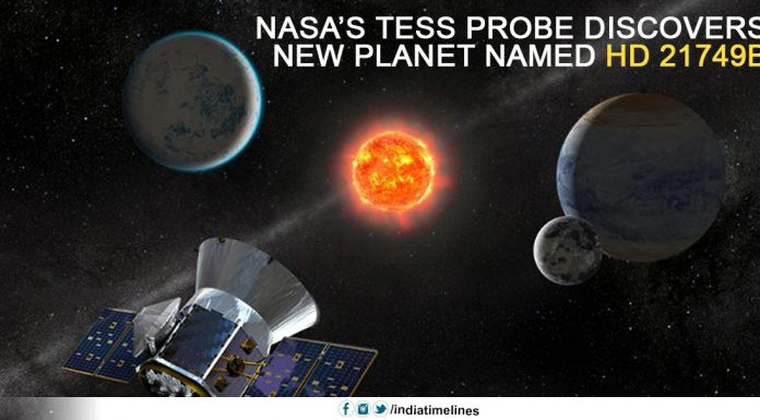 NASA's TESS Probe Discovers New Planet Named HD 21749B