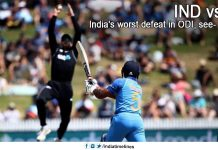 India's worst defeat in ODI