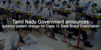 Tamil Nadu 12th board exam 2019 question pattern changed